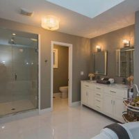 Bathroom Reno with glass shower and soaker tub